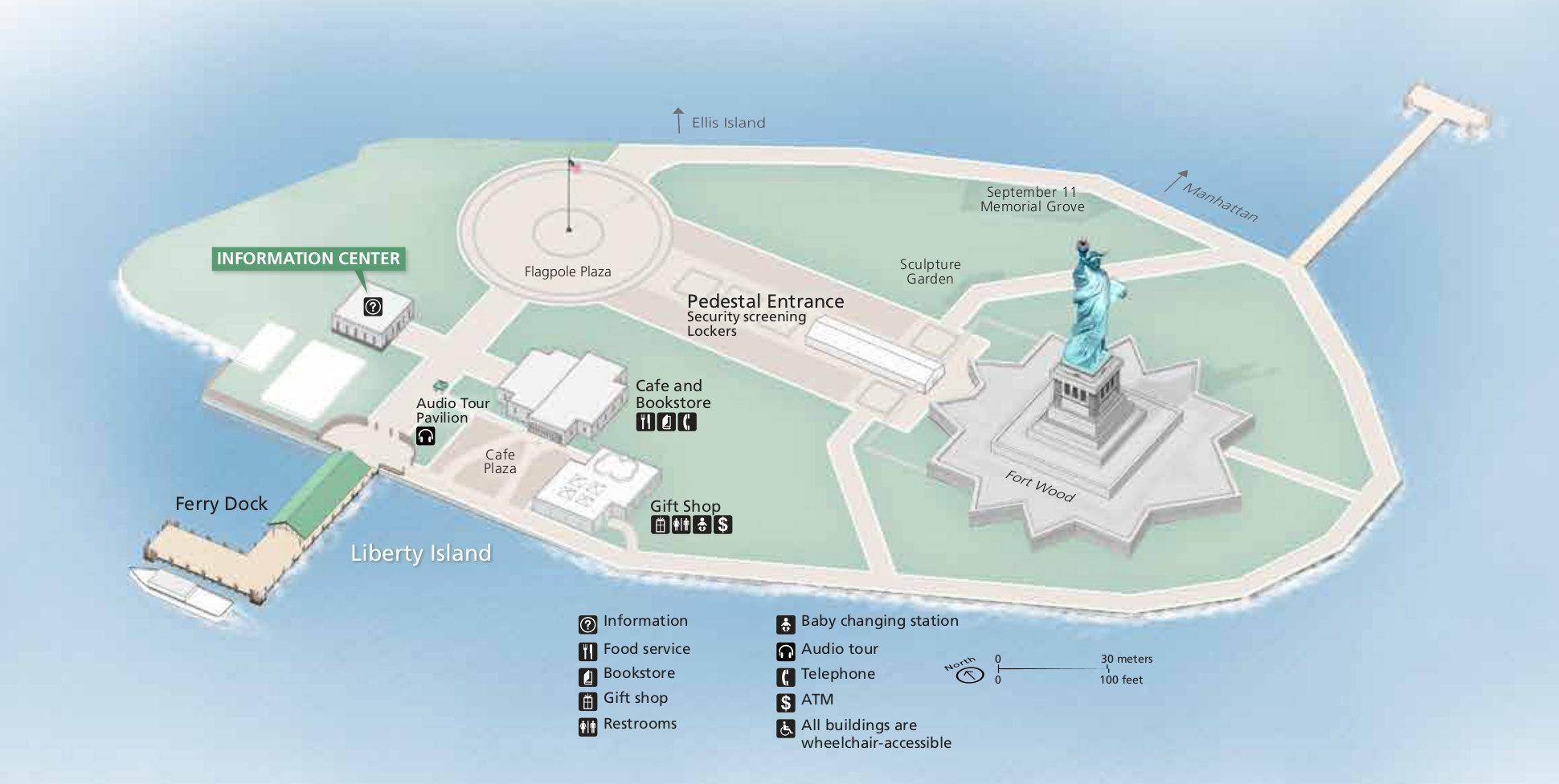 Statue Of Liberty Kort Kort Af Statue Of Liberty New York Usa